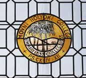MHC Seal in stained glass