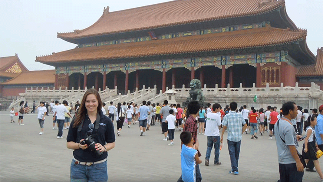 Photo of Claire Dunnigan '14 in Beijing