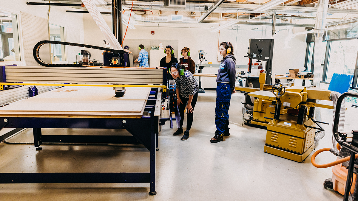 The Wood and Metal Working Shop in Fimbel Maker and Innovation Lab