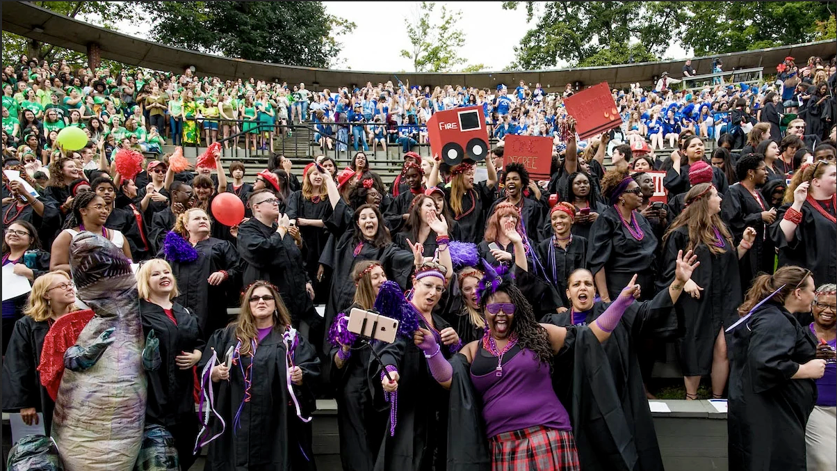Students celebrating during Convocation