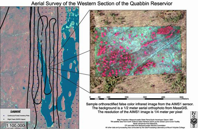 Aerial survey of the western section of the Quabbin Reservior