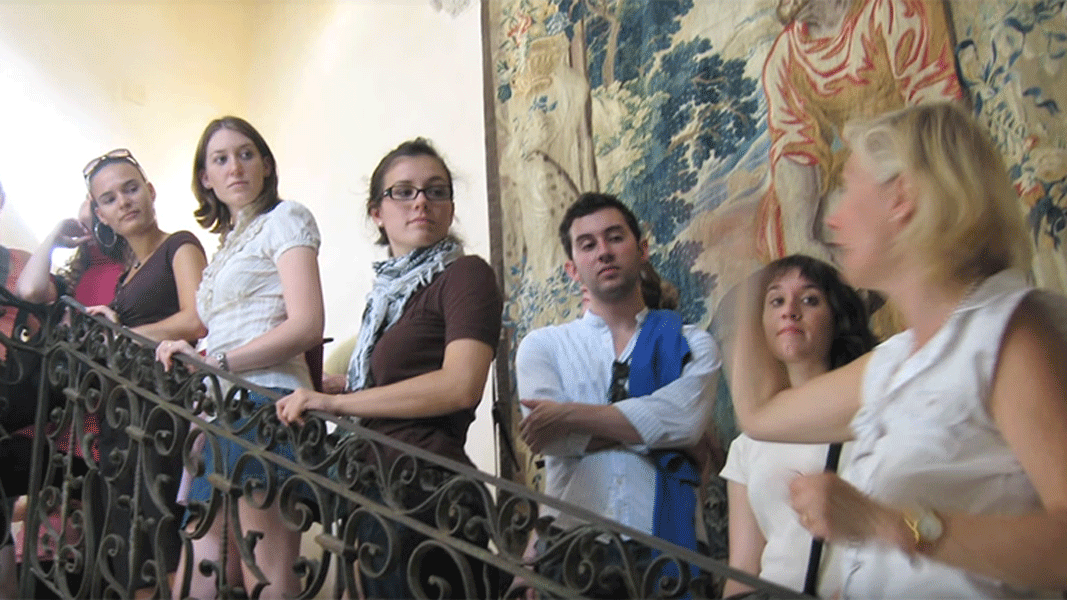 Photo of a group of students in Montpellier