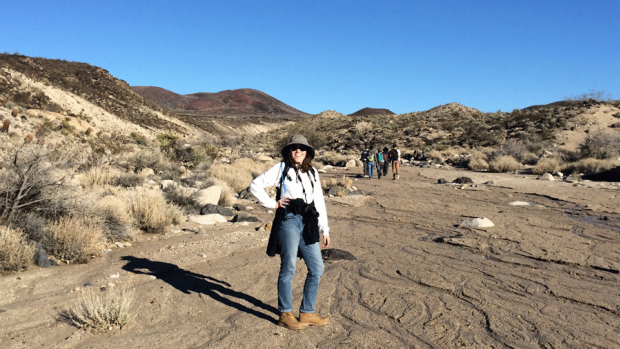 Image of Sarah Braverman '17 in the Mojave Desert