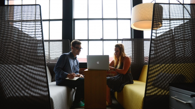 Image of two people conducting an interview