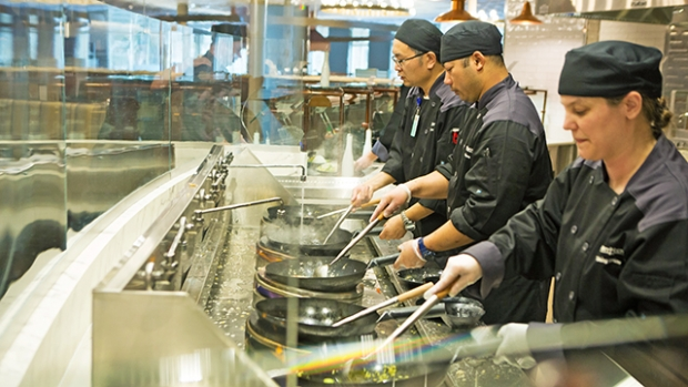The MHC Dining Commons includes made-to-order wok dishes.