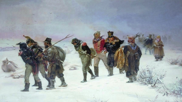 French army retreats from Russia in 1812
