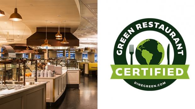 The dining options at Mount Holyoke College, including the Dining Commons (pictured), are Green Restaurant certified.