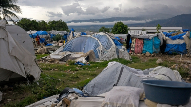 Tent city built after 2010 earthquake in Haiti destroyed by a tropical storm. Photo: REUTERS/Swoan Parker