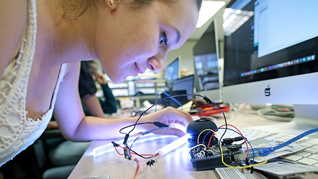 The College's Makerspace is a central location for the campus maker culture.