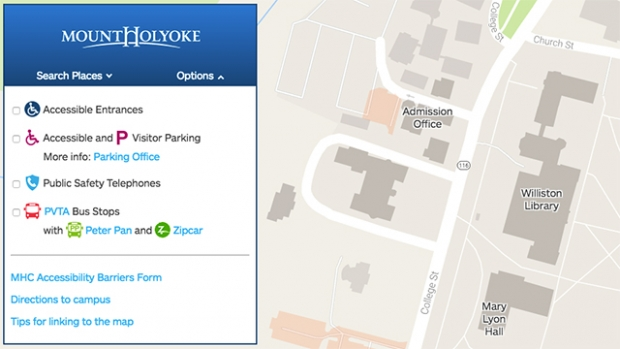 MHC's new online map includes a feedback button for comments and suggestions.