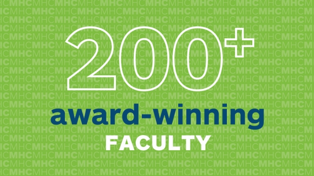 200+ Award-Winning Faculty