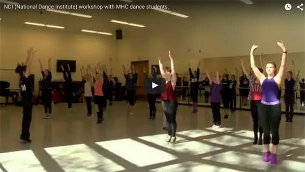 National Dance Institute works with dance students