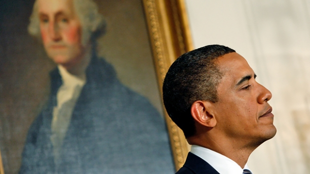"""History has its eyes on you:"" The first president and the 44th."
