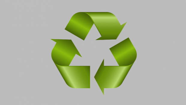 Graphic of a recycle symbol