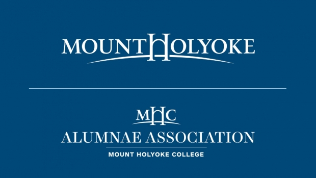 Images of Mount Holyoke logo and Alumnae Association logo