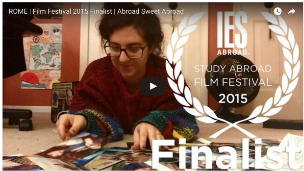 Adrienne Picciotto '16 won the Innovative Student Video Award, IES Abroad Study Abroad Film Festival