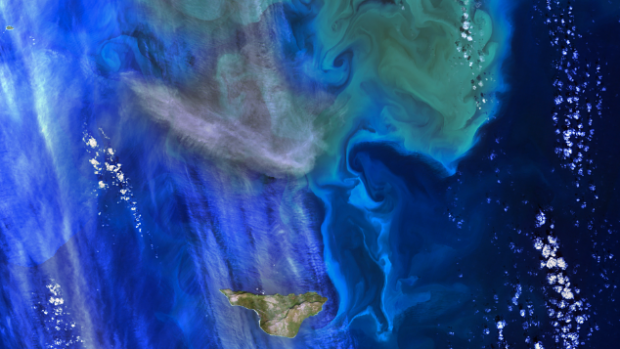 Image of the ocean from above, credit: NASA Goddard Space Flight Center