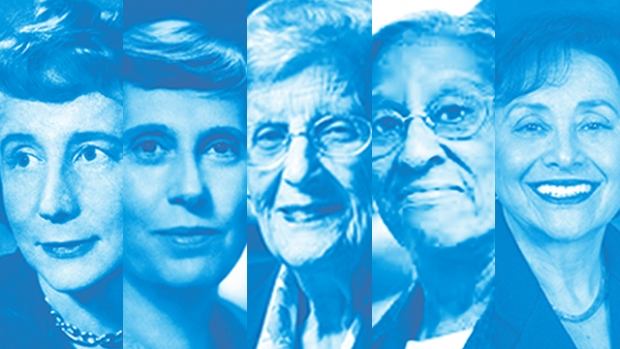 Montage photo of Mount Holyoke alumnae who have made history
