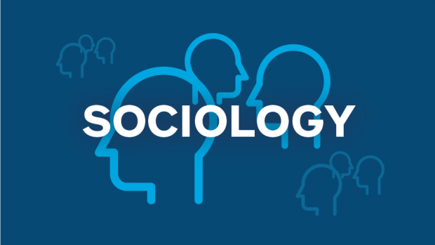Sociology graphic with outlines of faces