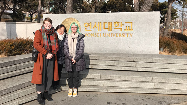 South Korea Reflections - in front of Yonsei University