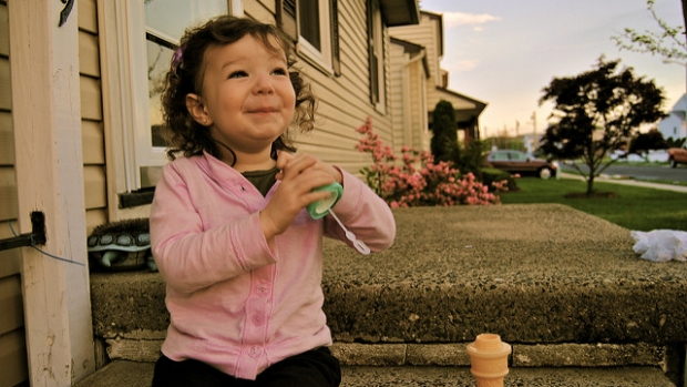 Photo of a happy toddler