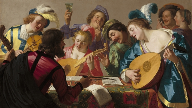 Gerard van Honthorst's 1623 painting The Concert.