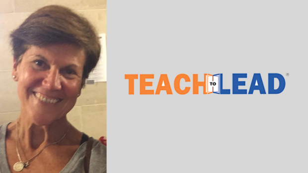 Photo of Ann Neary with the Teach to Lead logo