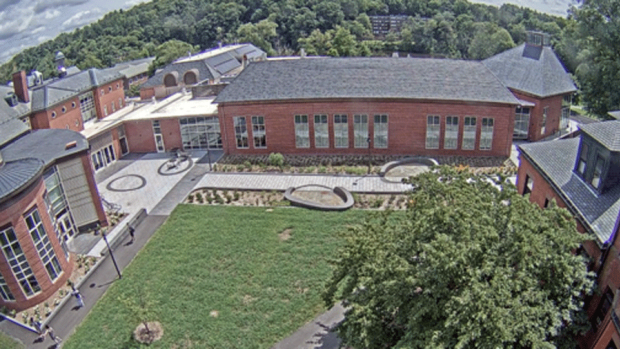 Photo of the outside of the community center