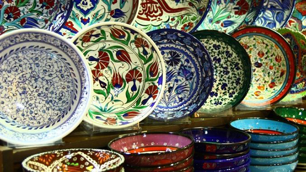 Colorful dishes from all over the world