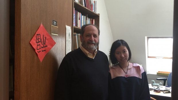 Mengyuan Tang '16 with Professor Lipman