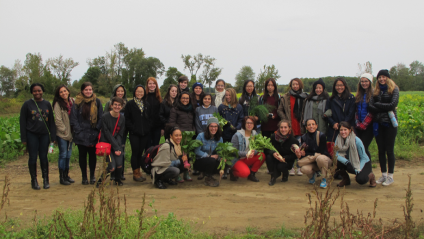 Professor Frau and her students, October 2015