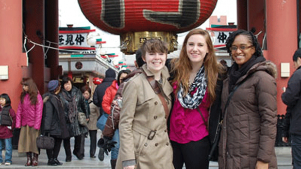 Photo of students in Japan