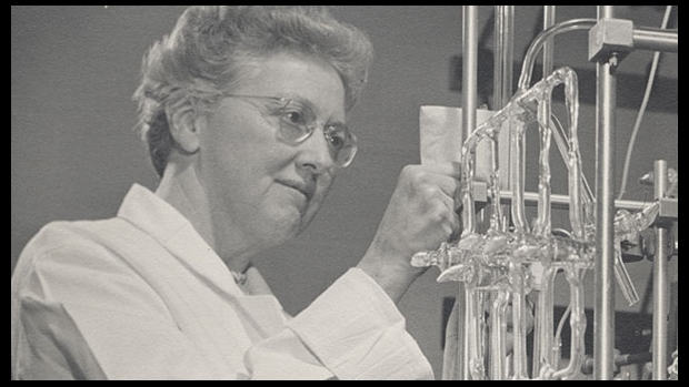Lucy Picket in the chemistry lab