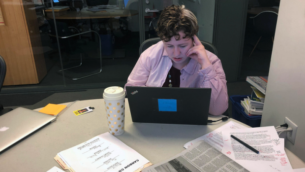 At work: summer 2019 Time magazine intern Madeline Fitzgerald '21