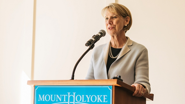 Barbara M. Baumann '77 will step down as chair of the Board of Trustees, a position she has held since 2015.