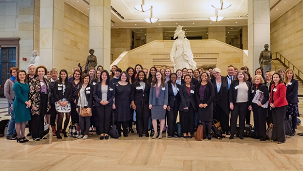 The 2018 Careers in Public Service cohort posed in the U.S. Capitol.
