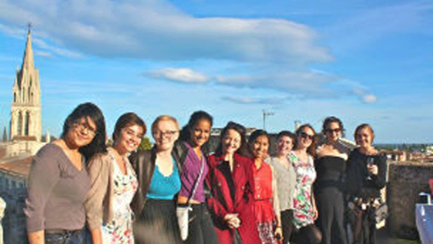 Photo of students in the Montpellier program in France