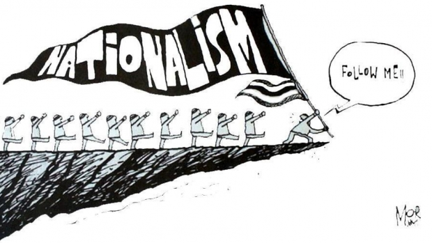 Nationalism cartoon