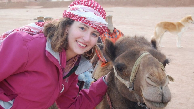 Olivia Griffen with Camel