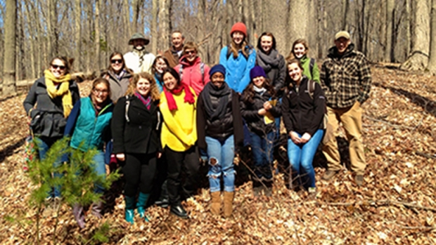 Photo of the Restoration Ecology class in Spring, 2014