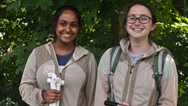 Photo of two Restoration Ecology interns