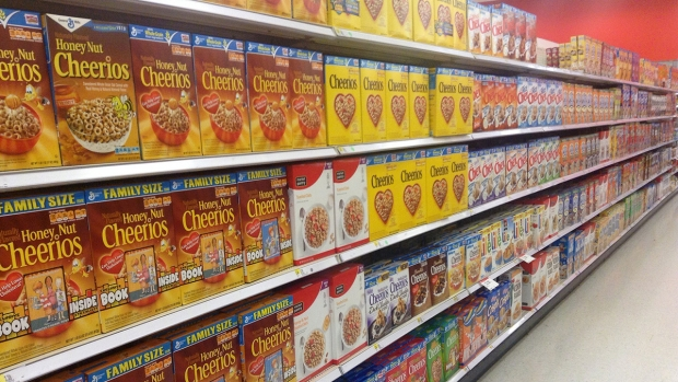 Breakfast Cereal Aisle Target Stores 5/2014 pics by Mike Mozart