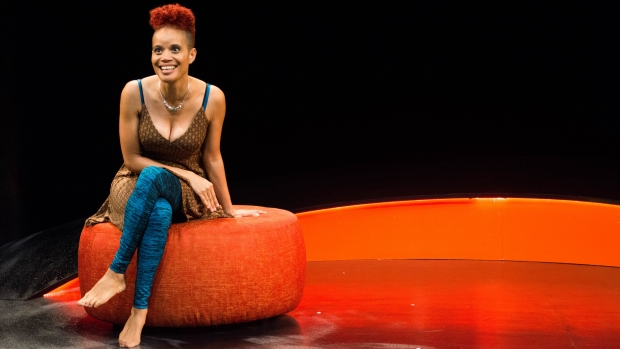This is a picture of poet Staceyann Chin, keynote speaker