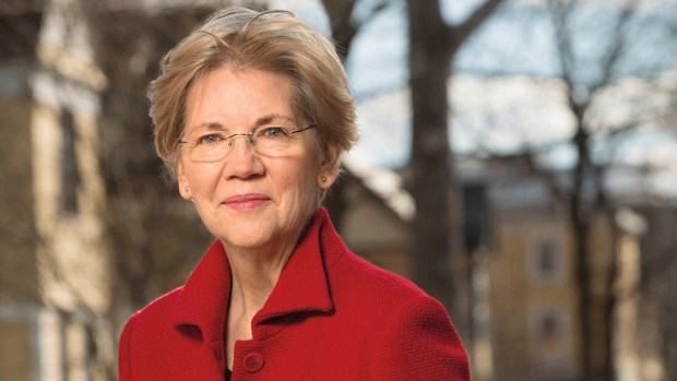 Photo of Senator Elizabeth Warren, copyright Kelly Campbell