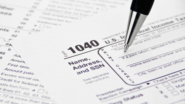 Photo of a federal tax form