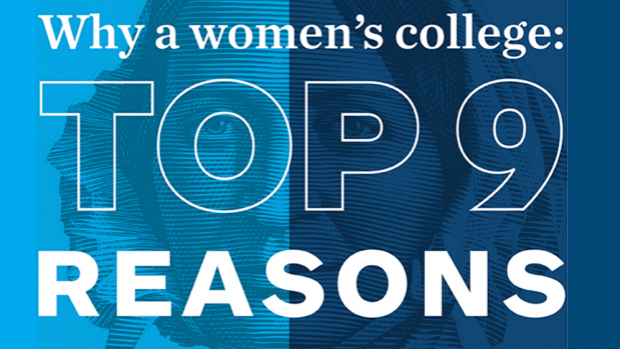 Mary Lyon with text overlay: Why a women's college: Top 9 Reasons