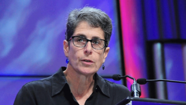 Valerie Barr '77 is the first Jean E. Sammet Professor of Computer Science.