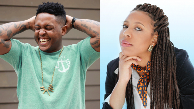 Side by side photos of Danez Smith and Morgan Parker