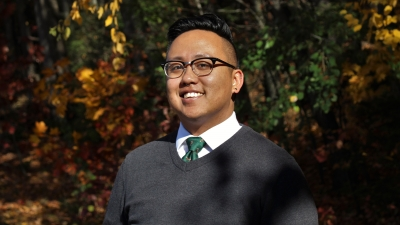 Gabriel Hall is Mount Holyoke College's new assistant director of Campus Diversity Programming and LGBTQ Initiatives.