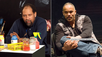 Side by side photo of Curlee Raven Holton and Keith Hamilton Cobb